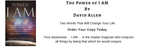 The Power of I AM, David Allen, But it on Amazon Today